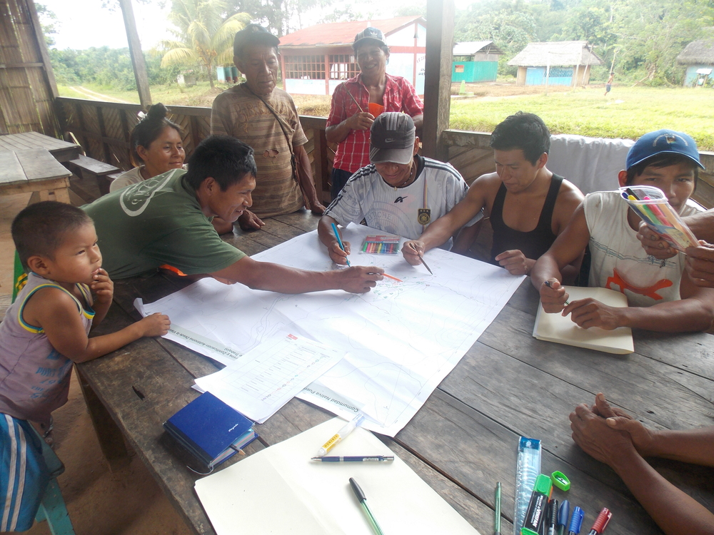 IBC works with community members to map resources of their watershed, as part of the preparation of action plans.