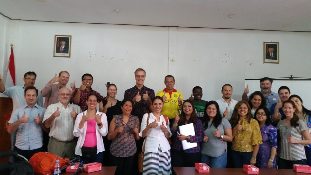 STA members pose with Central Kalimantan district officials from the Office of Plantations    after a Q&A session.