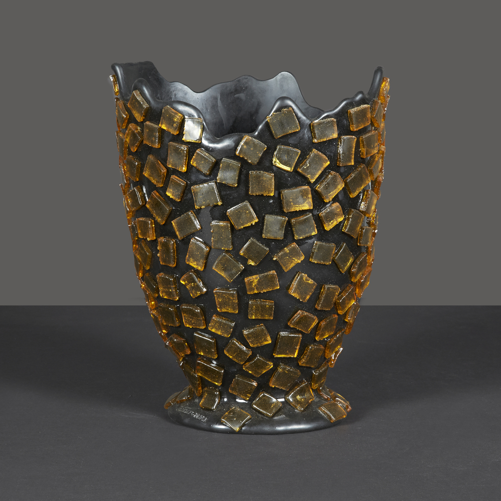 "Gaetano Pesce Rock Vase  13"" h. x 8"" d.  $1,800"