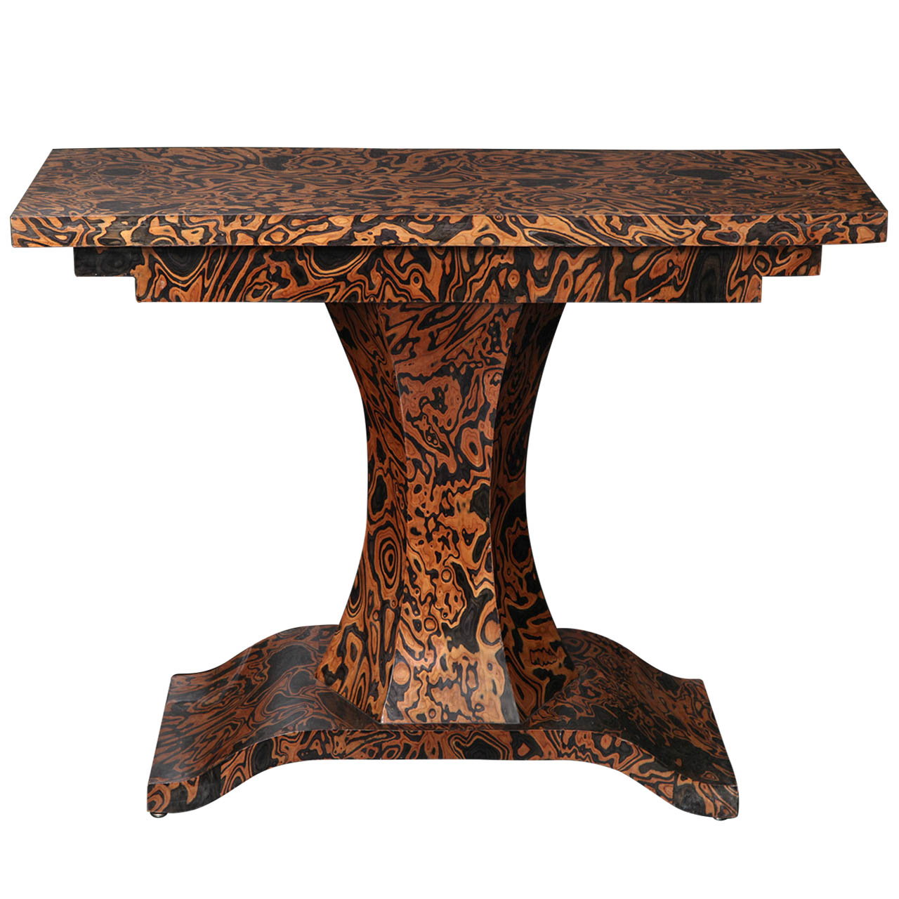 19th Century Zebra Wood Console