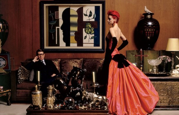 Yves Saint Laurent and Sybil Buck Vainity Fair 1995