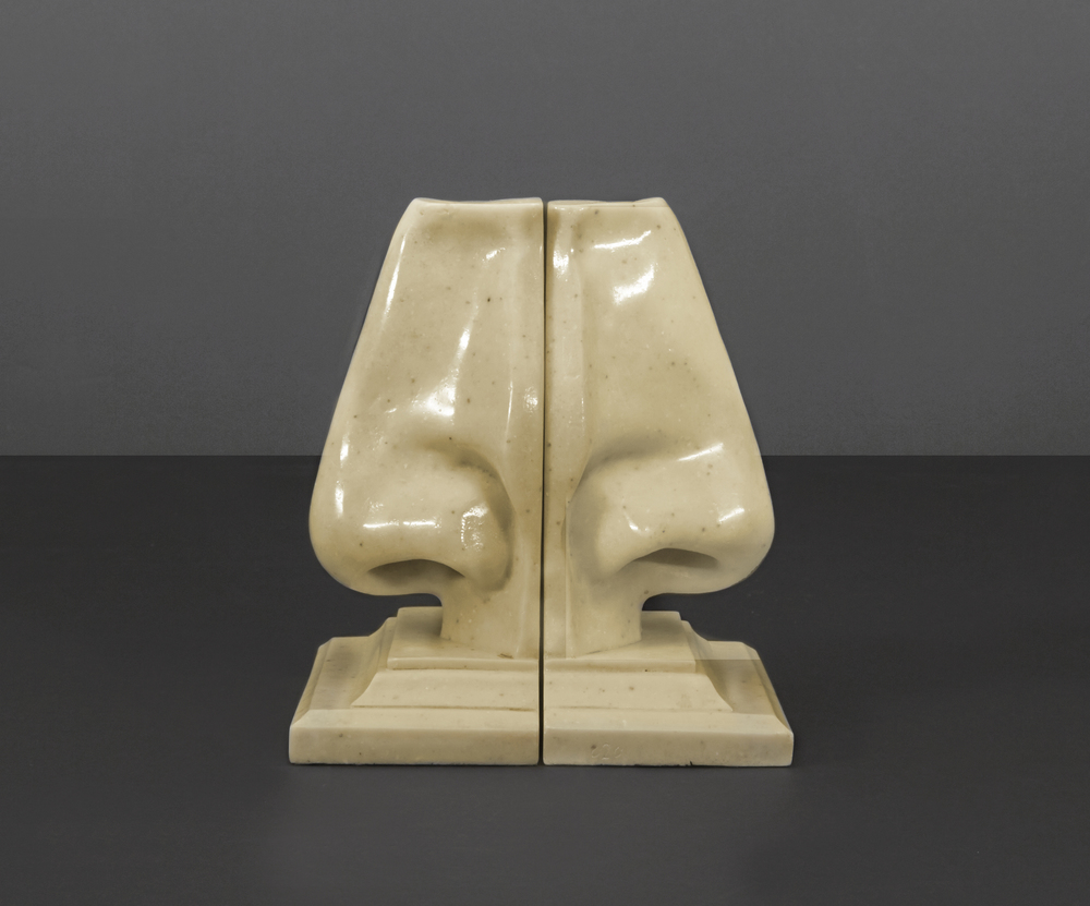 "Italian nose bookends 9"" h.  x  6"" d.  x  5"" w.  $2,400"