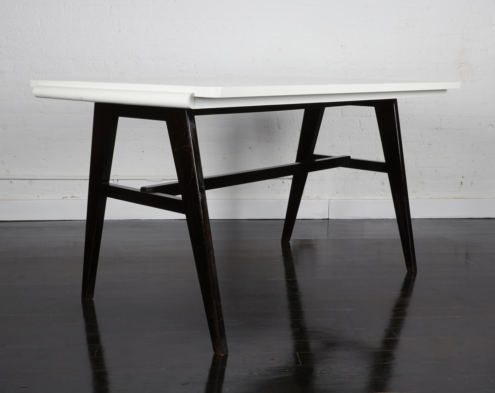 "Robin Day desk  54"" w.  x  34"" d.  x  29"" h.  $4,800"