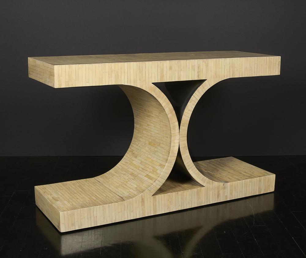 """Tessellated bone console  48"""" w.x 23"""" h. x 16"""" d.  $16,000"""