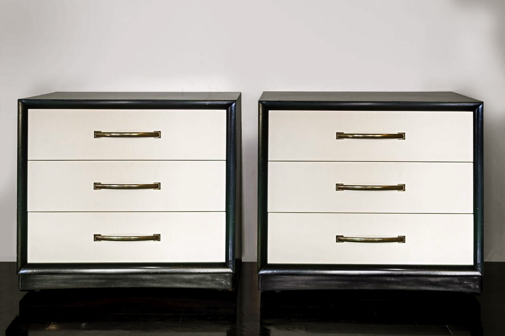 "Pair of Gibbings chest of drawers 36"" w.  x  33"" h.  x  20"" d.  $8,900"