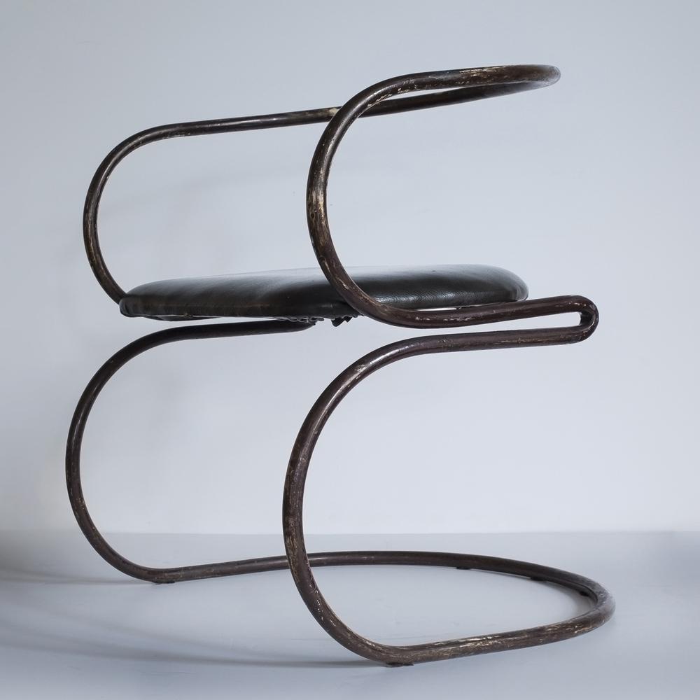 "Nathan Horwitt Chair  28"" h. x 24"" w. x 21"" d.  $38,000"
