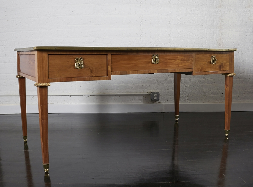 "French 18th Century Bureau Plat 64"" w.  x  32"" d.  x  30"" h.  $23,000"