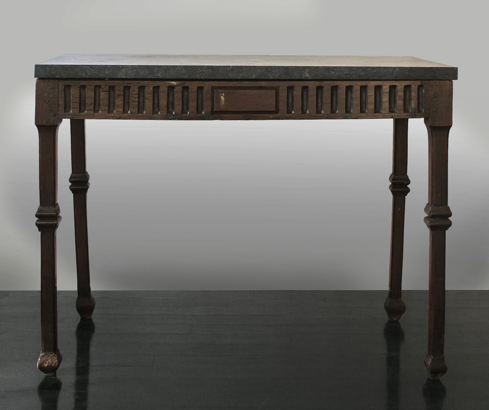 "18th Century Italian Walnut Table 36"" w.  x  28"" h.  x  21"" d.  $8,900"