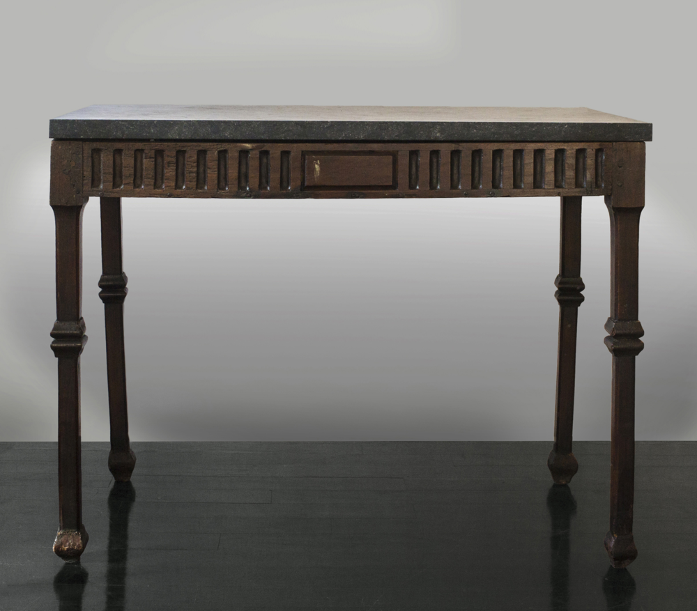 "18th century Italian walnut table 36"" w.  x  28"" h.  x  20.5"" d.  $8,900"