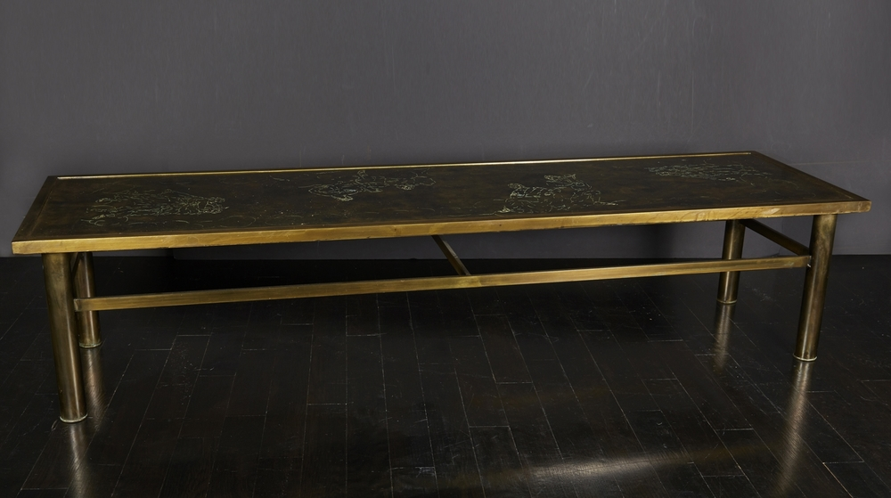 "Laverne Bronze Table  70"" w.  x  20"" d.  x  15"" h.  $18,000"