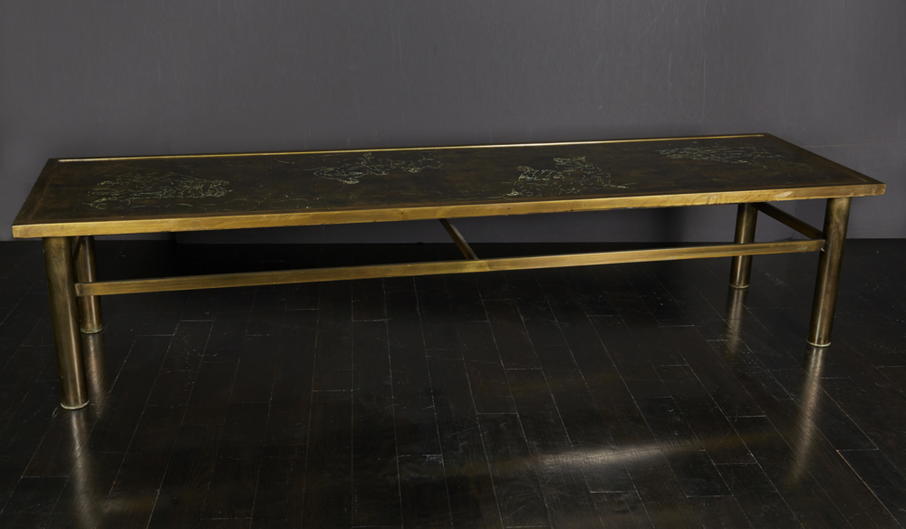 "Laverne bronze table 70""w. x 20"" d. x 15"" h.  $22,000"