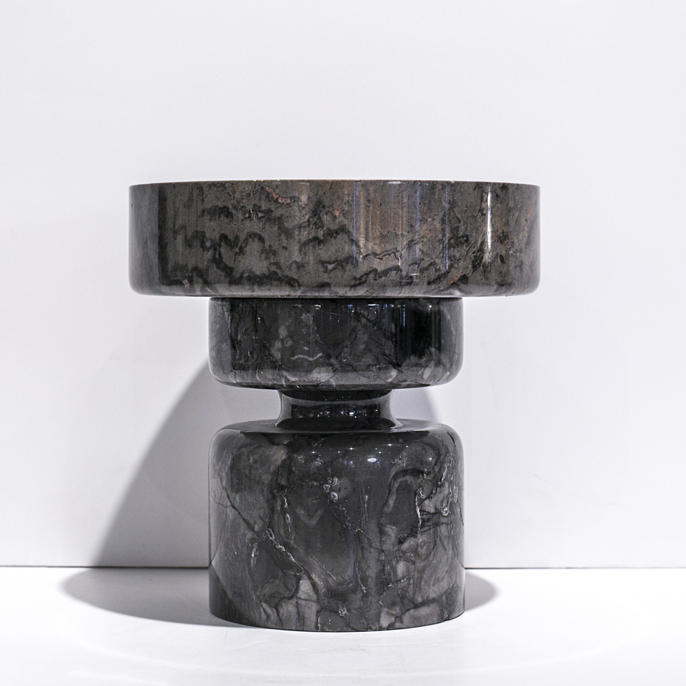 "Angelo Mangiarotti urn  9"" h. x 6"" dia.  $2,400"