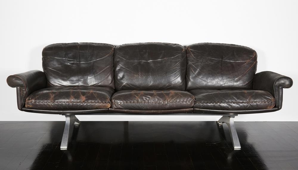 """DeSede sofa 84"""" l. x 29"""" h.x  27"""" d. $18,000"""