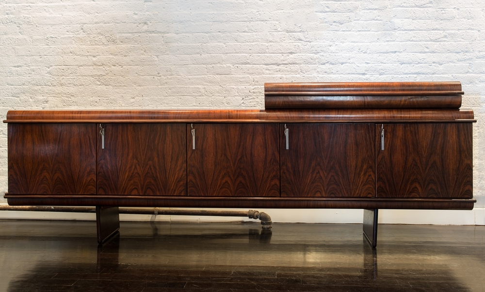 "Vittorio Introini Rosewood Sideboard  97"" w.  x  37"" h.  x  20"" d.   $24,000"