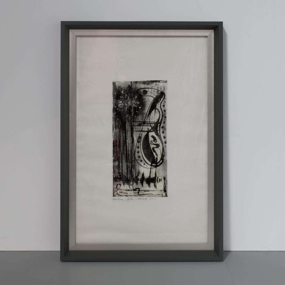 "WAD, Belgium work on paper 22"" h. x 16"" w. $3,900 ea."