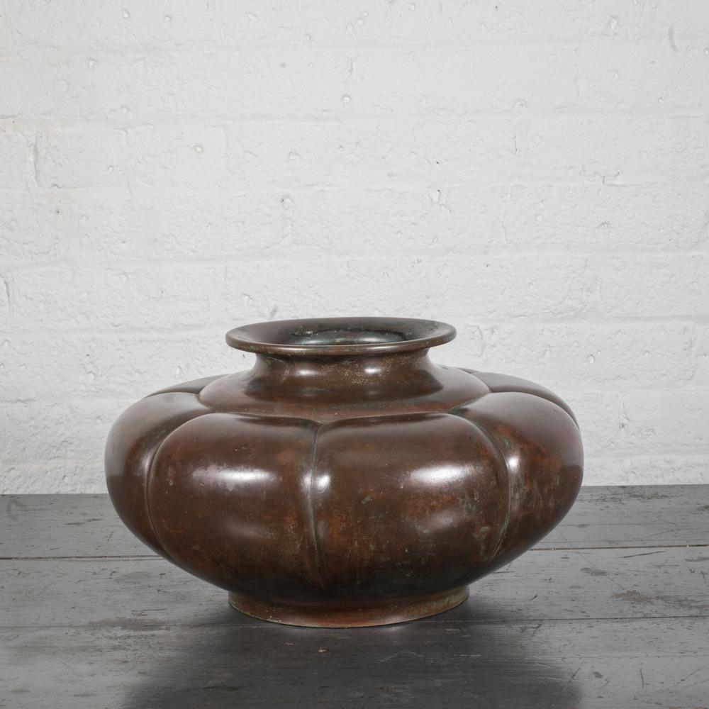 """Japanese Bronze Squash Vase 13"""" dia. x 7"""" h. $7,800"""