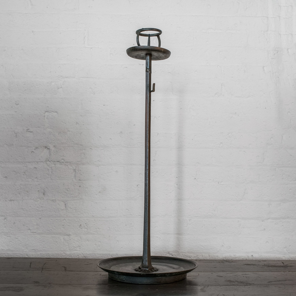 """Japanese bronze candlestick  23"""" h. x 8"""" d.  $4,800"""