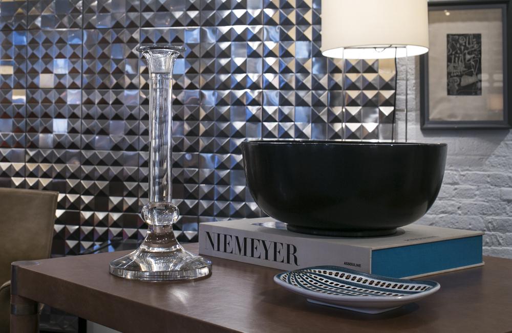 "Black lacquer bowl  17"" dia. x 8"" h.  $2,400"