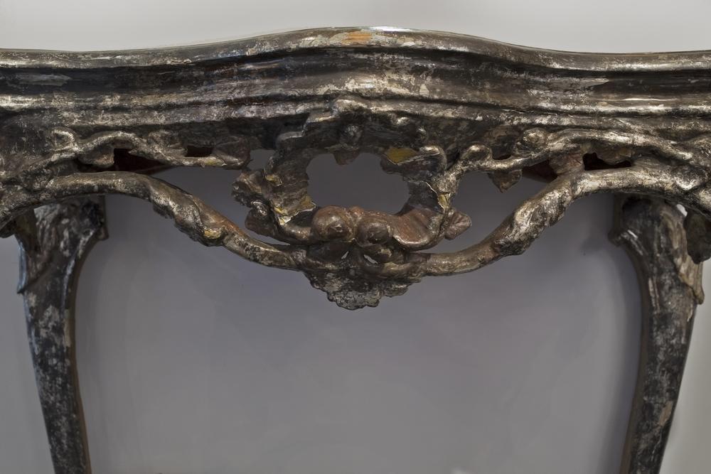 "18th century Venetian console 41"" w. x 35"" h. x 23"" d. $10,500"