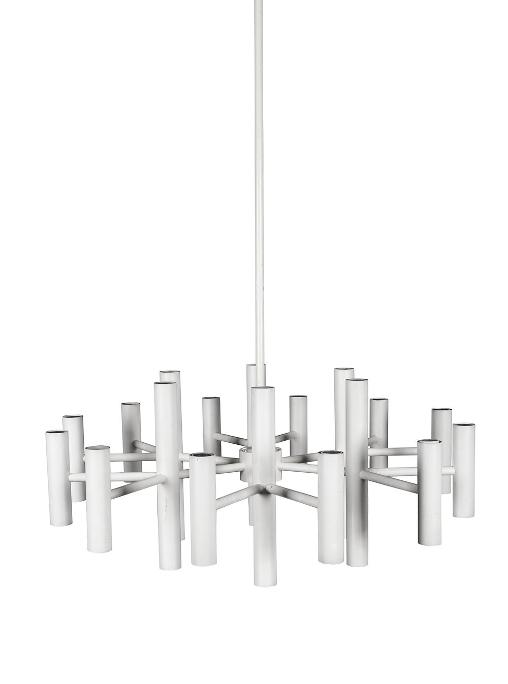 "Robert Haussmann light fixture  82"" h.  x  42"" dia.  $22,000"