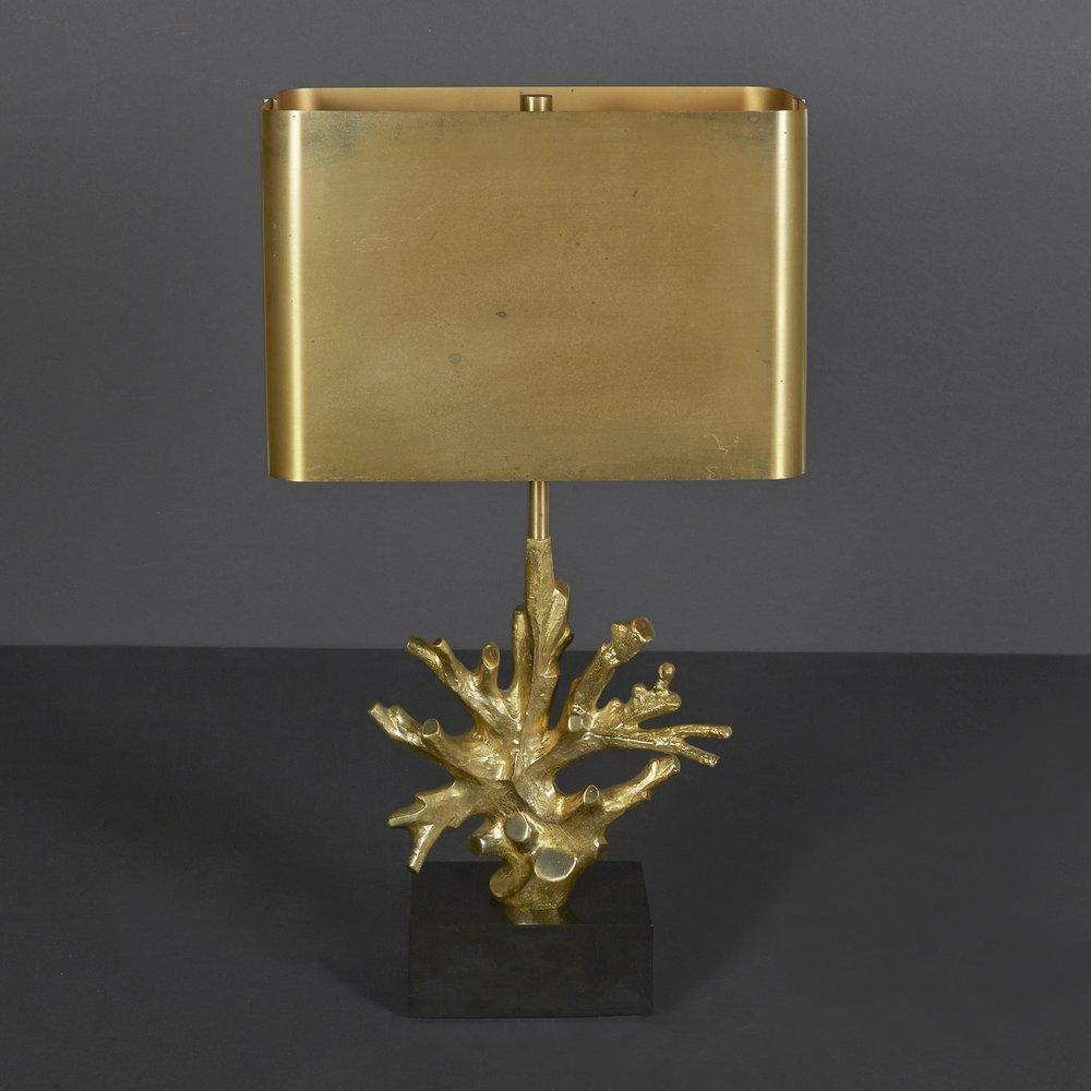 "Maison Charles Bronze Lamp  27.75"" h. x 12"" w. x 6"" d.  $6,900"