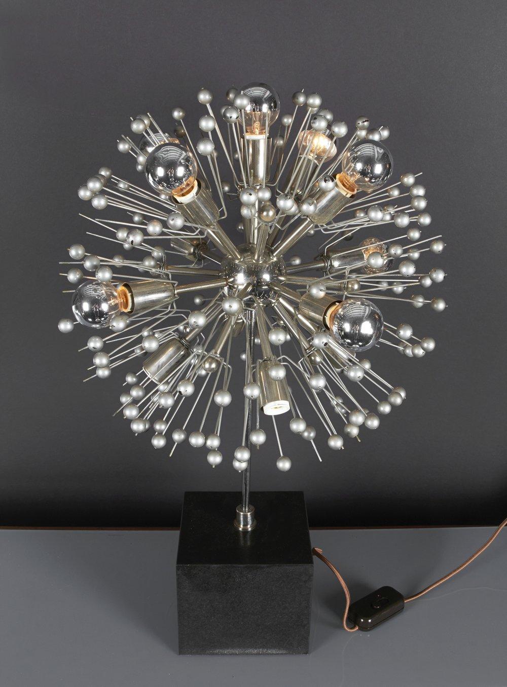 "Italian Sputnik Lamp 29"" h. x 18"" dia. $6,800"