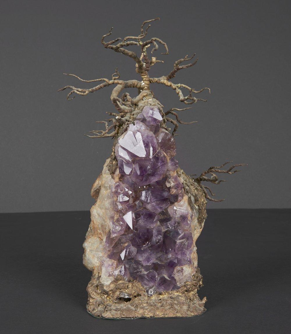 "Tony Duquette Amethyst Sculpture  10"" h. x 4"" w.  $8,900"