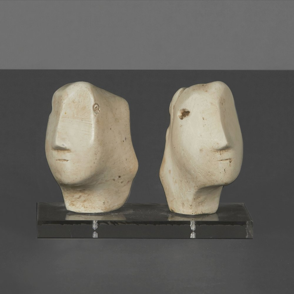"H. Moore - Two Heads 4"" h.  $3,600"