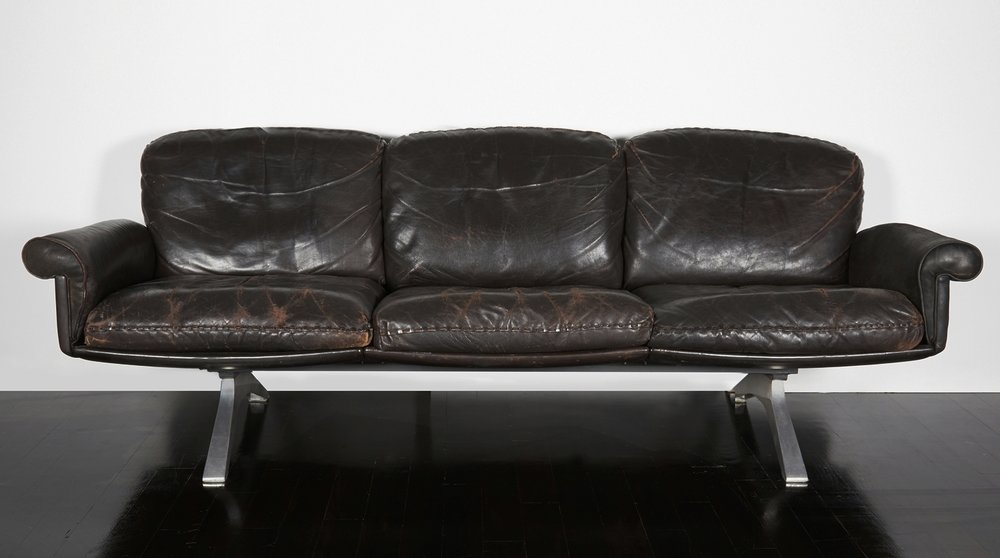 """DeSede Sofa  84"""" l. x 29"""" h. x 27"""" d.  $18,000"""