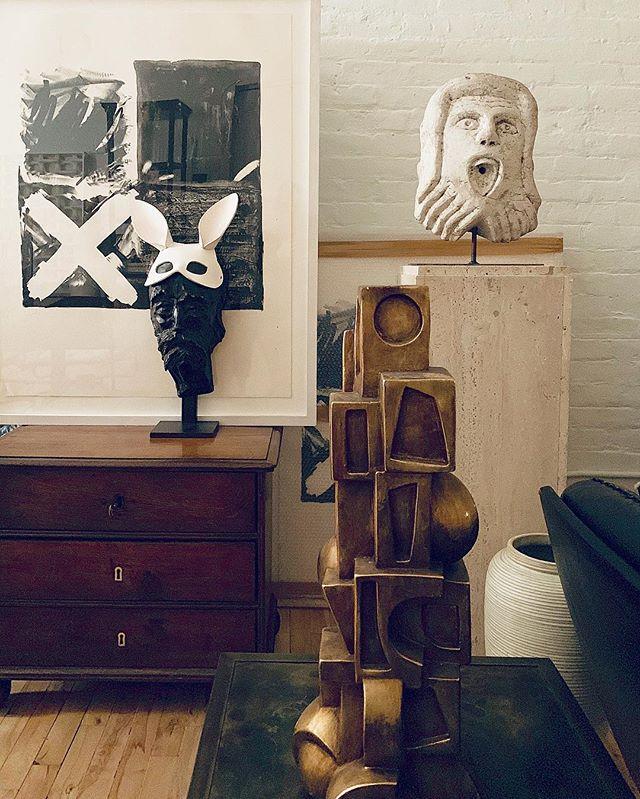 STYL #styling #composition #brutalist #lamp #form #bunny #ears #italian #fountainhead #ny #home #loft #soho #design #interiors #cozy