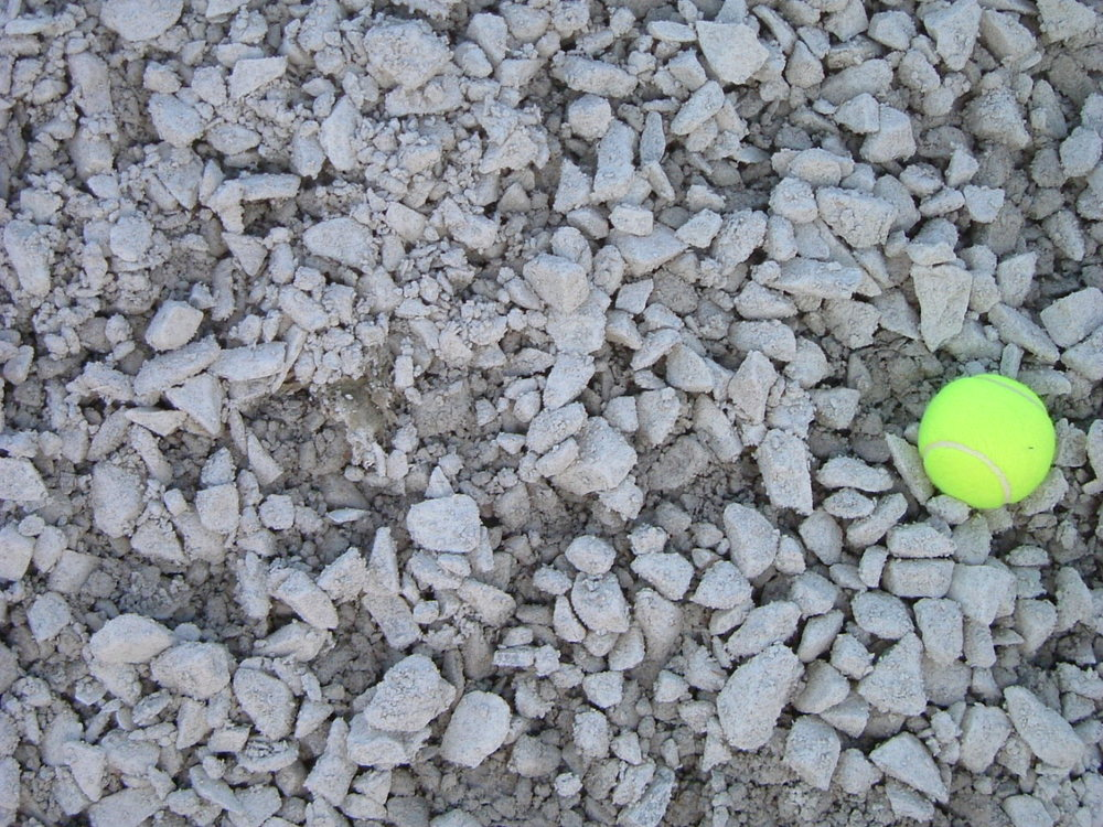Use this tennis ball in the picture to gain perspective on the stone size.