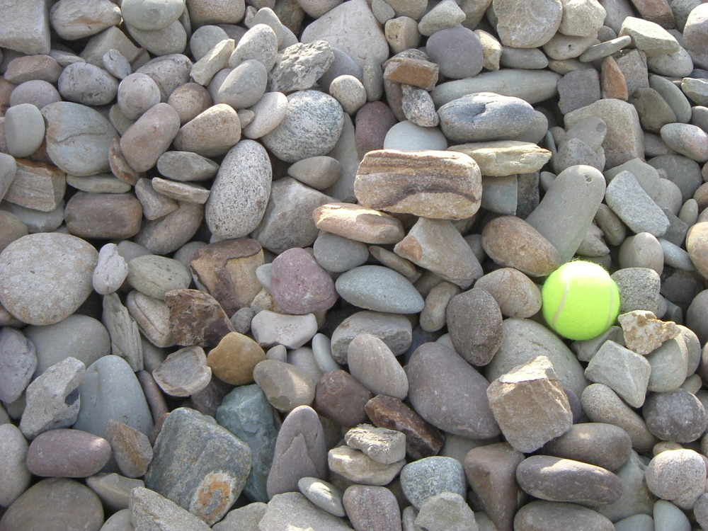 Use this tennis ball in the picture to gain a perspective on the size of the stone