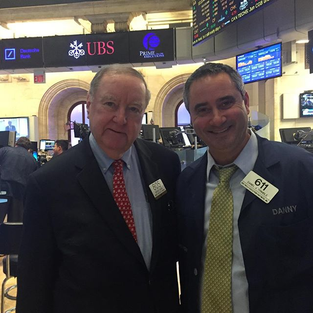 Art Cashin and Danny Trimble happy it's Friday!