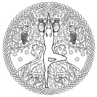 Inanna Queen Of Heaven Mandala Coloring Page
