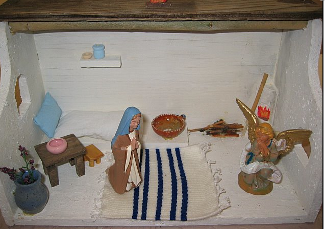The sacred story of the annunciation by Linda, a catechist of the Good Shepherd.
