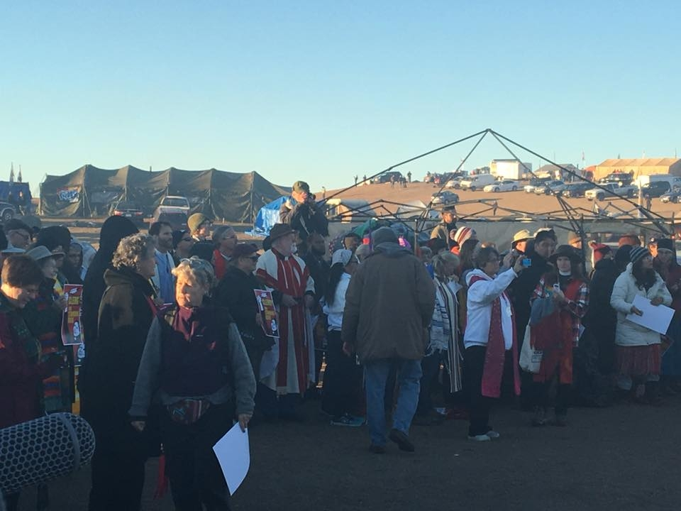 Spiritual leaders gather from around the world at Standing Rock on Nov. 3, 2016
