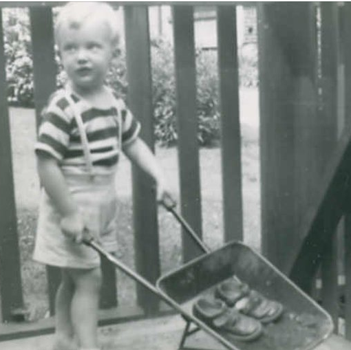 Donald J. Trump as a toddler.