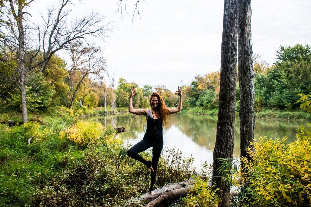 Tree Pose, Arms Reach