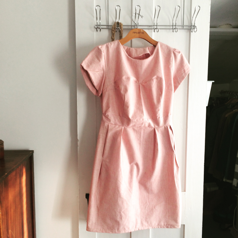 My first dress was frustrating and nearly fell apart in the washing machine, but I'm proud!