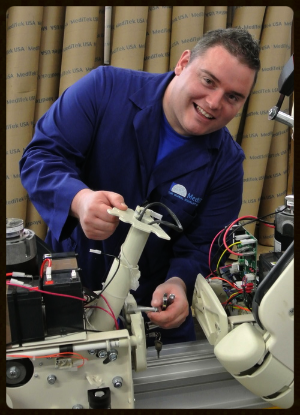 Eddie,  Iraq War Veteran working at MediTek Stairlifts USA.