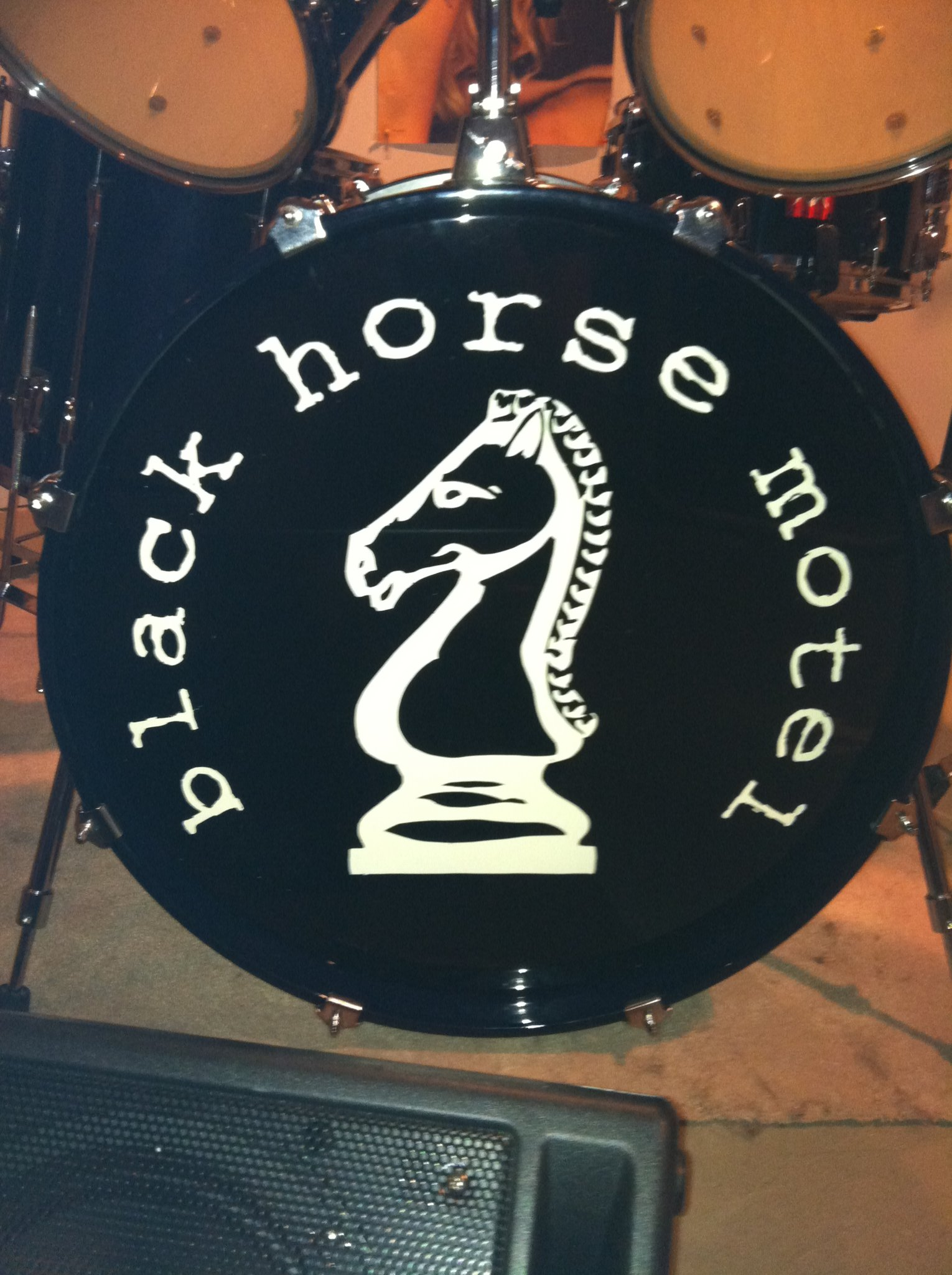 black horse motel drum head