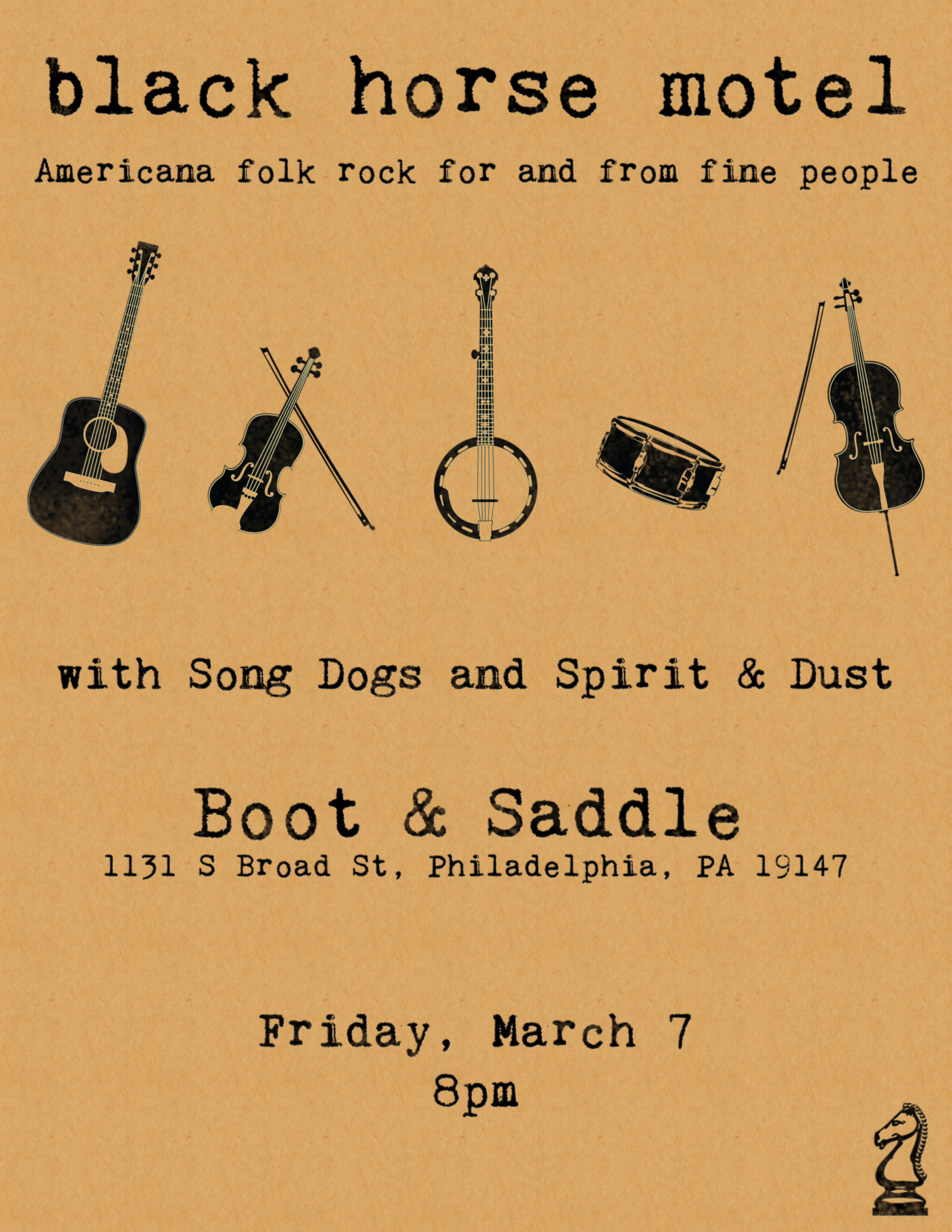 March 7 Boot & Saddle