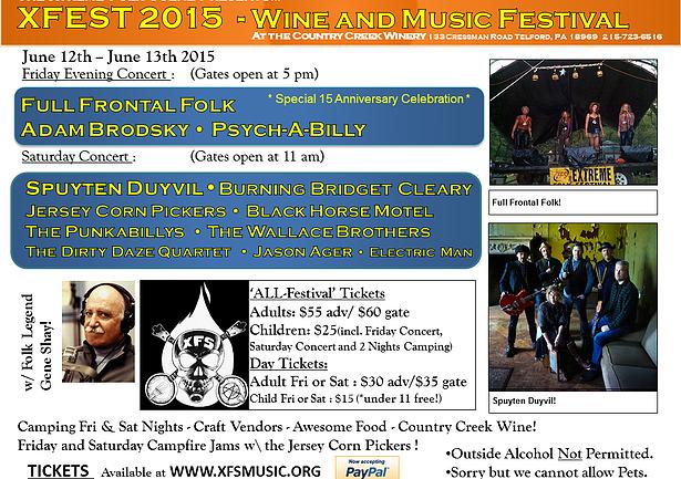 Xtreme Folk Fest Flier