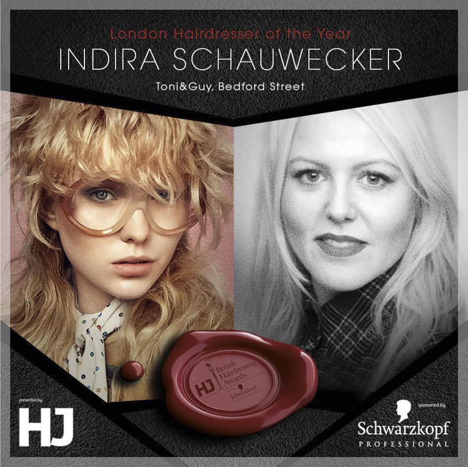 Indira Schauwecker FOR toni and Guy Wins London hairdresser