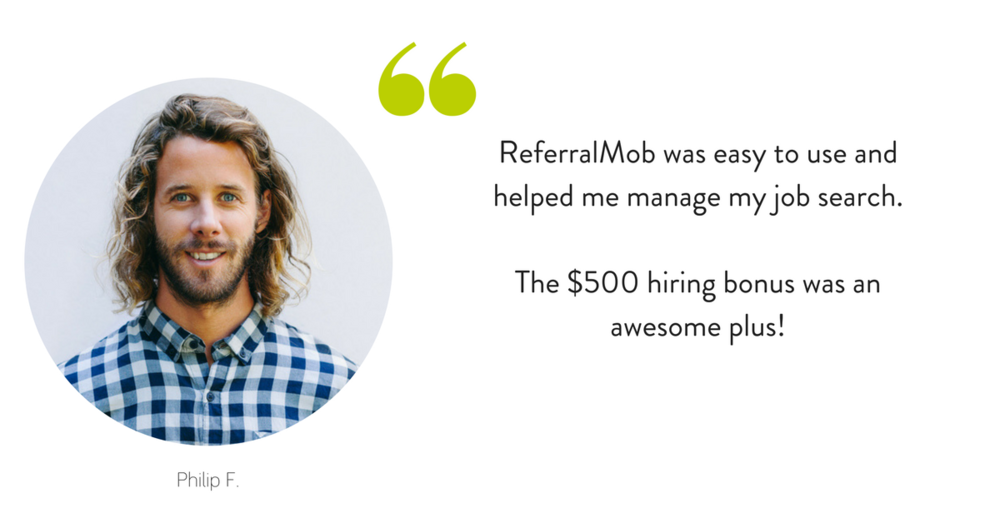 ReferralMob was easy to use and helped me manage my job search. (2).png