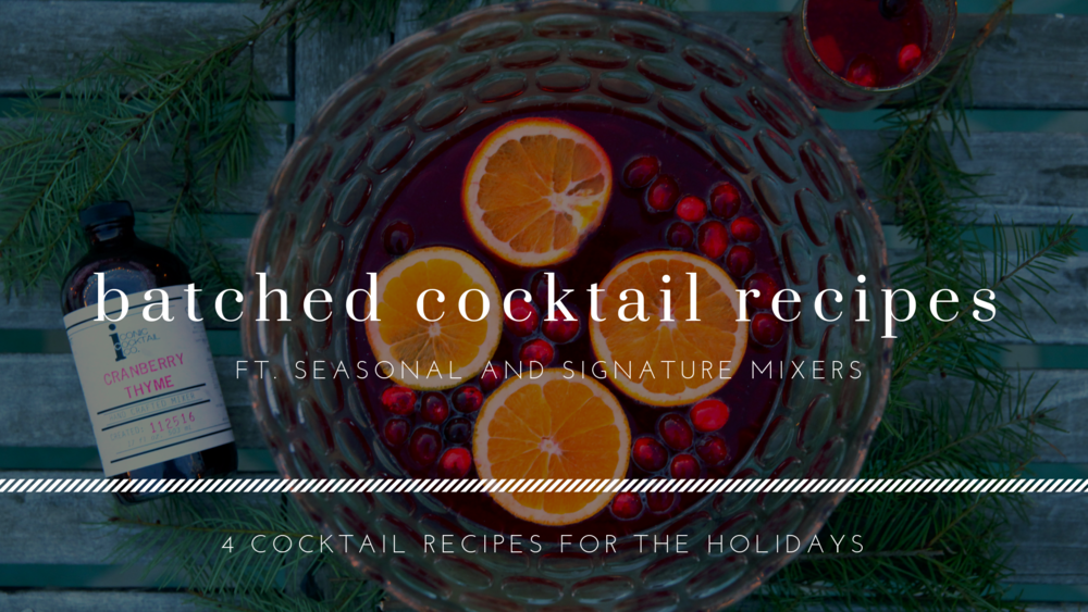 Batched Cocktail Recipes