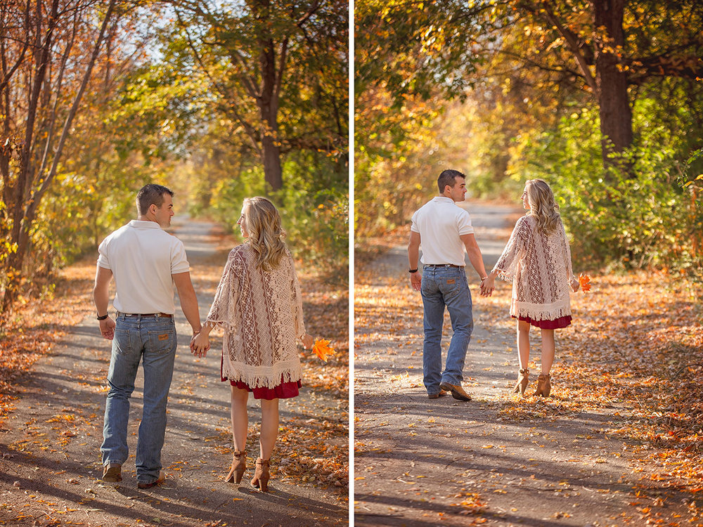 Fall is one of the best times for beautiful engagements in the Ozarks!