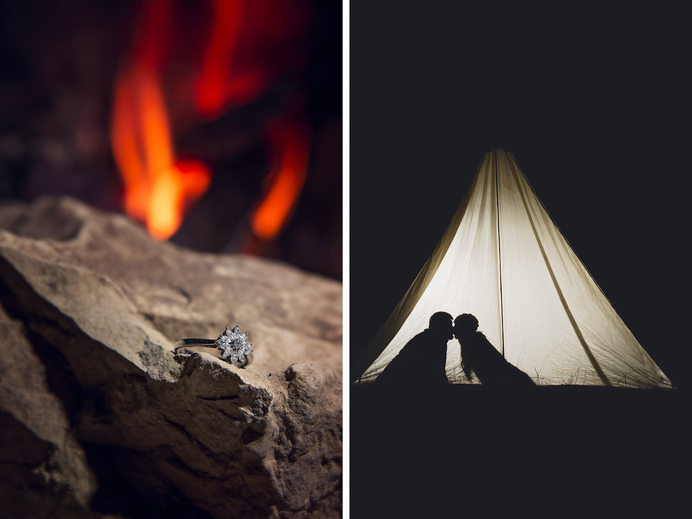 camping themed engagement session, Springfield, MO