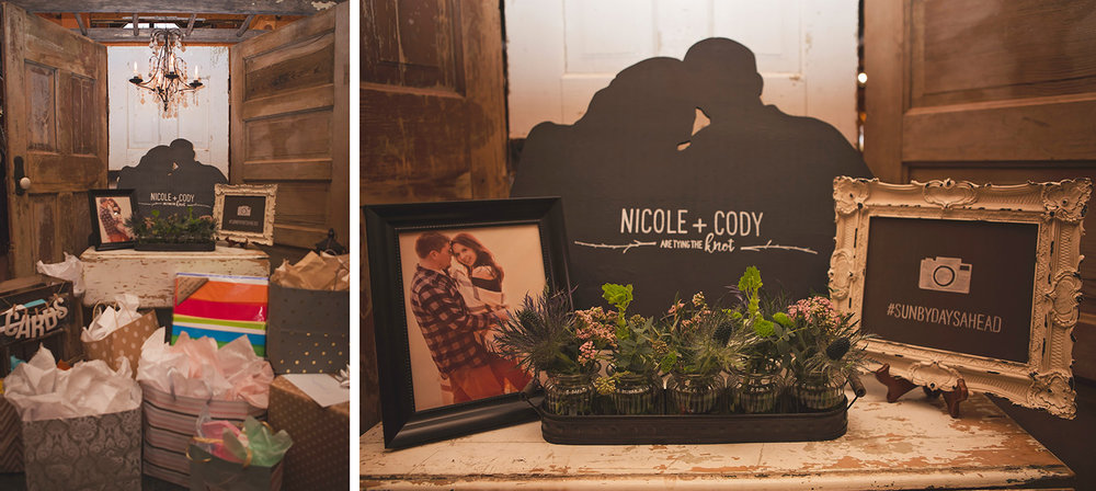 Book an engagement session with your wedding photographer so you can use your engagement photos creatively for wedding decor!
