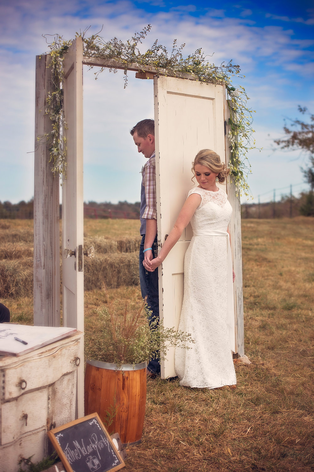October farm wedding - first touch - Springfield MO Photographers
